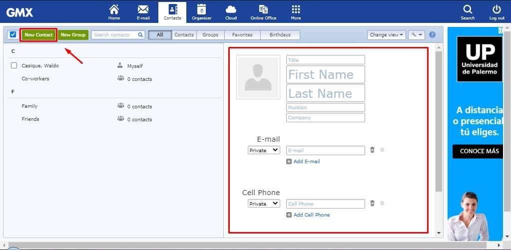 Gmx Mail Contacts